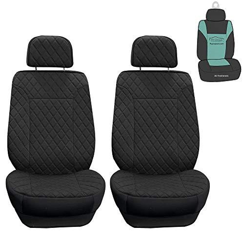 FH Group FB079102 Prestige79 Diamond Stitch Neosupreme Front Car Seat Cover Set (Black)-Universal Fit for Cars Trucks & SUVs