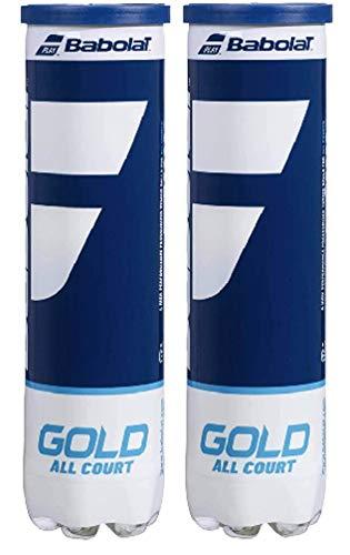Babolat BIPACK Gold All Court x4 Pelotas, Adultos Unisex, Jaune (Amarillo), Talla...