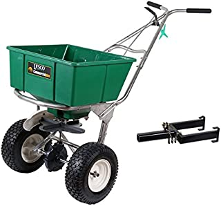 Lesco 101186 High Wheel Walk-Behind Fertilizer Spreader with Lesco Spreader Caddy (Bundle, 2 Items)