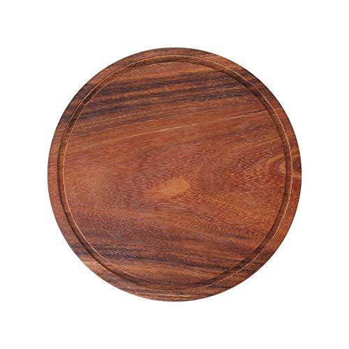 MEICHENG-DZ Erfrischendes Malen Akazienholz Keine Runde Pizza Steine Eco Natural Wood Thick Schneidebrett Serviertabletts Kuchen Teller Durable Pizza Peel einfach (Color : 30cm)