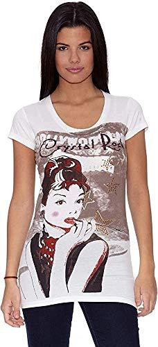 Ed Hardy Camiseta Hollywood-Land Blanco M