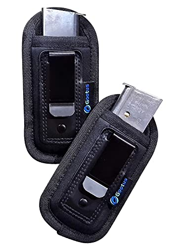 Gootus Universal Magazine Holster (2 Pack), IWB Clip Mag Carrier Holder, Magazine Pouch 9mm .40 .45 for Glock 19 43 17 Sig 1911 S&W M&P, Fits Any 7 10 15 Round Clips