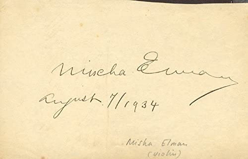 Lily Pons - Signature Max 44% OFF 1934 By: New Orleans Mall Mischa co-signed Elman