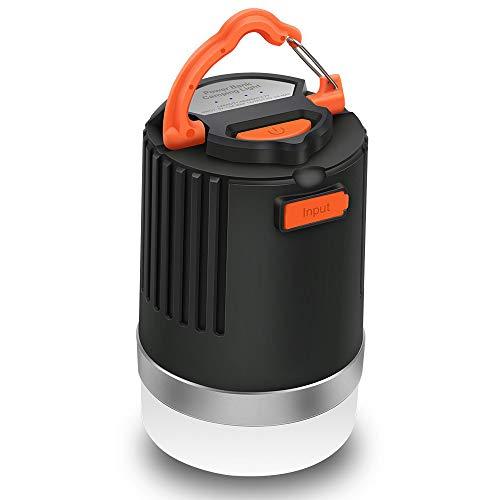 ELEPOWSTAR LED Campinglampe, Camping Laterne IP65 wasserdichte Campingleuchte, USB USB aufladbar, 4 Lichtmodi, Magnetisch Powerbank (8000 mAh)
