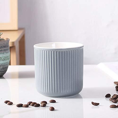 Neaer Vaso para cepillo de dientes de cerámica con esmalte de color creativo, taza de agua para el hogar, taza personalizada, taza de enjuague bucal vasos de baño (color: gris, tamaño: 201-300 ml)