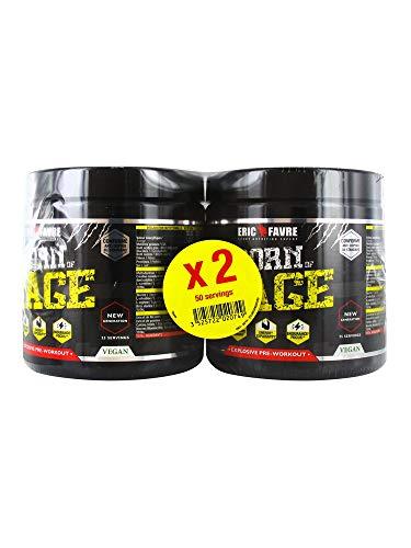 Eric Favre Born of Rage Explosive Pre-Workout Lot de 2 x 250 g