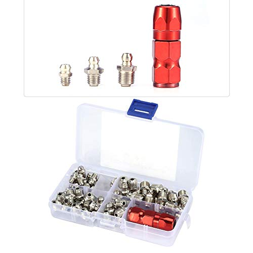 Grease Nippels, Metal Replacement Grease Nipple Fittings Pack, M6 M8 M10...