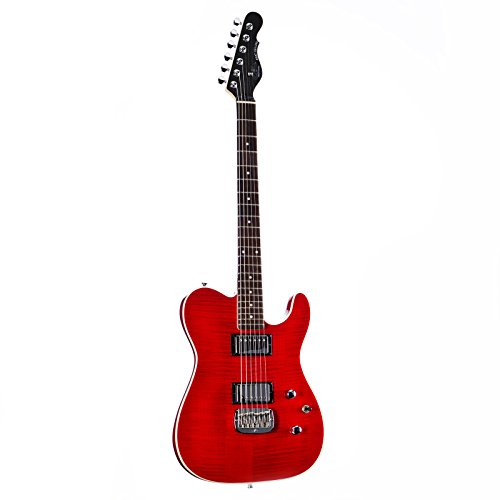 G&L Tribute ASAT Deluxe Carved Top in Trans Red