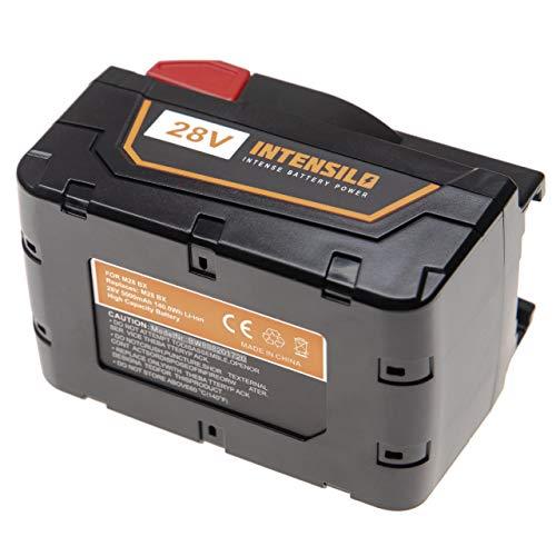INTENSILO Batería compatible con Milwaukee M28 28V 1/2-Inch Hammer Drill, V28, V28 Li-Ion 1/2 herramientas eléctricas (5000mAh Li-Ion 28V)
