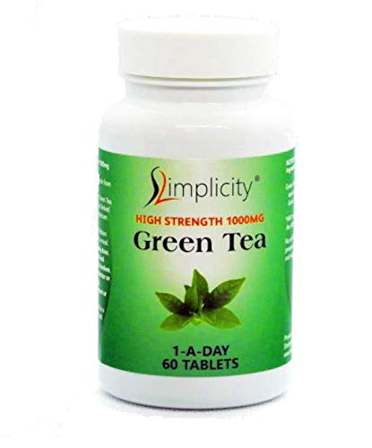 Slimplicity High Strength 10000 mg Green Tea Tablets - Pack of 60 Tablets