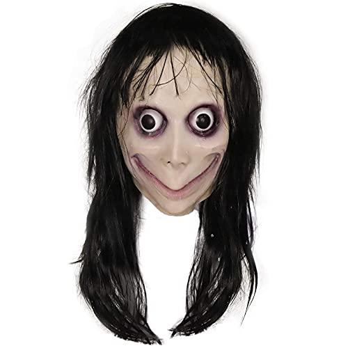 fenihooy Halloweenmaske , máscara de látex de goma Momo Resident Evil Monster Mask Terror máscaras látex Decorativas Halloween y Navidad Terror para Halloween Fiesta de Disfraces Mascaradas