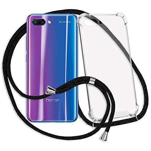 mtb more energy® Handykette kompatibel mit Honor 10 (5.84'') - schwarz - Smartphone Hülle zum Umhängen - Anti Shock Strong TPU Case