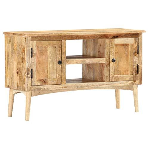 vidaXL Madera Maciza Mango Aparador Muebles de Cajones Mesilla Buffet para Salón Dormitorio Comedor Casa Hogar Oficina Almacenaje 100x35x60 cm