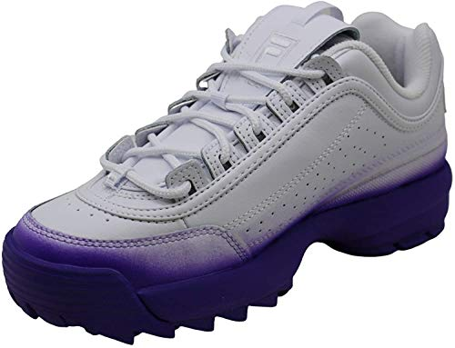 Fila Womens Brights Fade Leather Low Top Lace Up Fashion, Purple, Size 8.0
