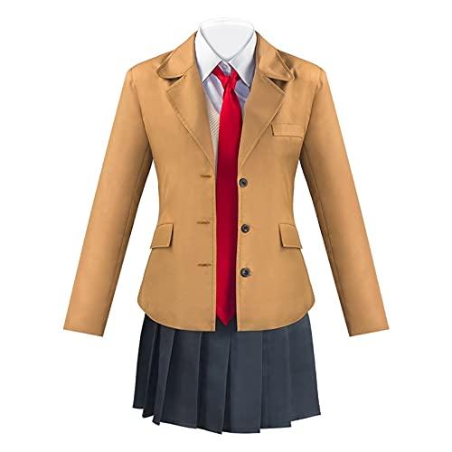 Hcxbb-1 S-akurajima M-ai - Disfraz de uniforme escolar para cosplay, manga para adultos, disfraz de Halloween (color: conjunto, tamaño: XXL)