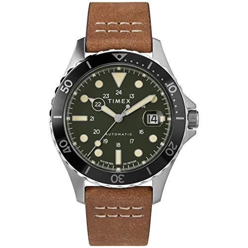 Timex Navi XL 41mm Automatic Green Brown