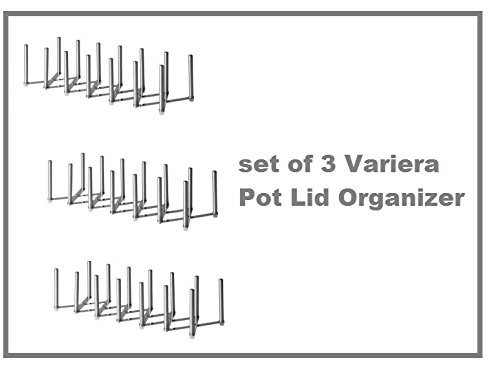 New Ikea Variera Pot Lid Organizer Stainless Steel Multi-use Adjustable length - SET OF 3