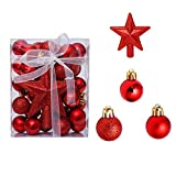 30 Piezas Decoración Navideños Plástico, Colgante de Decoración Estrella, Adornos de Bolas de Arbol de Navidad Inastillables, Bolas de Navidad, para Decoración de Boda Fiesta Festival Navidad