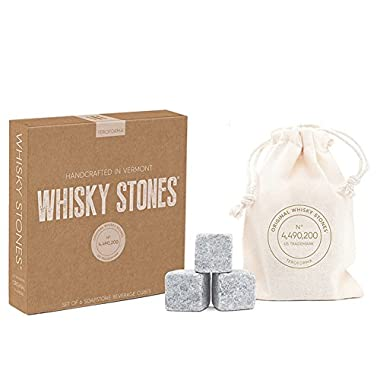Whisky Stones CRAFT – Original Handcrafted Natural Soapstone Beverage Chilling Cubes (Set of 6) By Teroforma