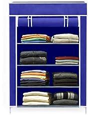 EMBROSS High Bond Plastic Mini Wardrobe (Standard Size, Blue)