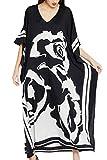 AiJump Femmes Coton Robe Grande Taille Eté Caftan Longue Kimono Bikini Cover-Up Plage Tunique Maillot de Bain