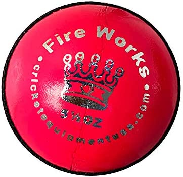 Fireworks Pink Leather Cricket Ball by Cricket Equipment USA product image