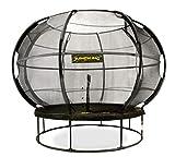 JumpKing Top-Trampolin mit Netz und Leiter ZorbPOD366 cm schwarz