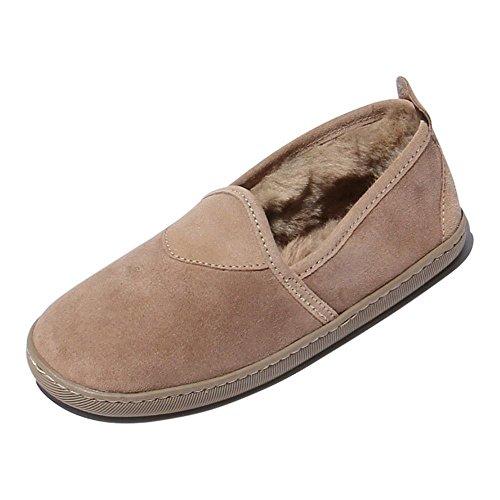 Hollert Leather Lammfell Hausschuhe SUSI Premium Damen Fellschuhe aus 100% Merino Schaffell Größe EUR 42