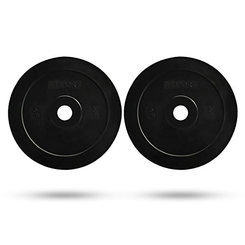 44SPORT 5 Pound Fractional Olympic Bumper Plates - Set of 2