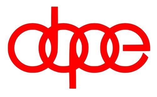 UR Impressions Red Dope Decal Vinyl Sticker Graphics for Audi A3 A4 A5 A6 A8 Allroad S4 S5 S6 S7 RS 3 4 5 7 TT R8 Q3 Q5 SQ5 Q7 Car SUV Wall Window Laptop|RED|7 X 4.1 Inch|URI232-R