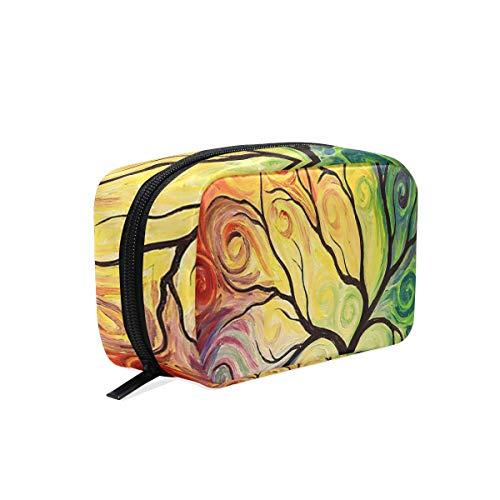 Trousse de maquillage Embrayage cosmétique pochette arbre Rainbow