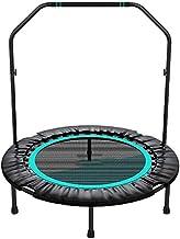 Oefening Trampoline met handvatbalk, Indoor Mini Fitness Trampoline Verstelbare opvouwbare trampoline Oefening Trampoline ...