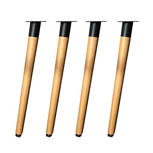 JXJ Solid wood furniture support leg, suitable for solid wood furniture leg support such as dining table, desk, computer desk, etc.