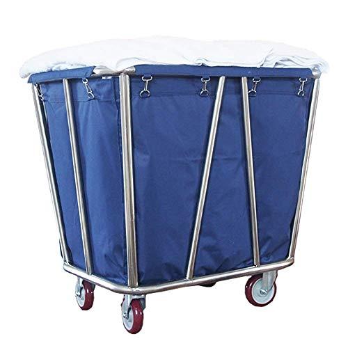 Carrito de hospital, estante para suministros médicos, carrito médico, carrito clasificador de ropa rodante comercial de servicio pesado con ruedas, contenedor con ruedas para hotel con bolsa extraíbl