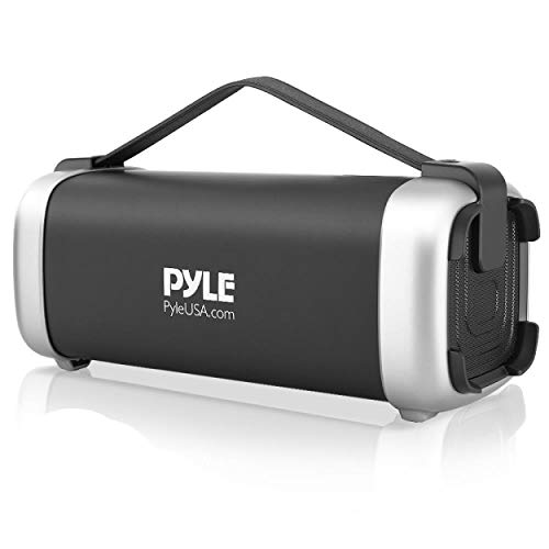 Pyle Wireless Portable Bluetooth Speaker - 200 Watt Power Rugged Compact Audio Sound Box Stereo System - Rechargeable Battery, 3.5mm AUX Input Jack, FM Radio, MP3, Micro SD and USB Reader - PBMSQG12