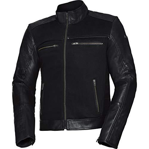 IXS Motorradjacke mit Protektoren Motorrad Jacke Jimmy Classic Lederjacke schwarz 50, Herren, Chopper/Cruiser, Ganzjährig