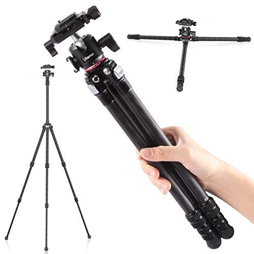 Carbon Fiber 54'/1.1lb Lightweight Compact Camera Tripod Monopod with 360°...