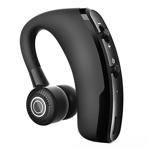 CIC Fone De Ouvido Bluetooth Sem Fio Mini headphones De Negócios Invisível Único Top Gancho Microfone para Chamadas Profissio Apple e Android, Preto