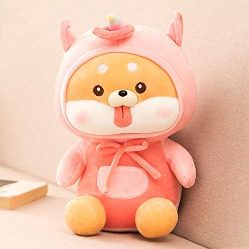 JIAL R Kawaii weichen Hundeplüschtiere Kinder Stuffed Shiba Inu Hund Puppe Kinder Spielzeug Dekorationen Geburtstags-Geschenk for Kinder-45Cm_Unicorn Chongxiang