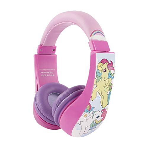Sakar HP2-04157 My Little Pony Kids Headphones For Girls - Volume Limiting Over-Ear 3.5mm Stereo Jack, Pink, Standard, Soft, Cushioned Ear Pieces, Kids-Safe Technology, My Little Pony Pink