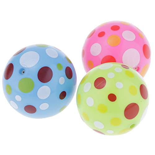 Baoblaze 3 Zoll Kinder Elastischer Bälle Softbälle Spielball für Kinder Haus, Strand, Klassenzimmer usw. Spielen - # Punkten