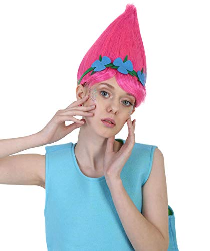 Halloween Party Online HPO Colorful Pointy Princess Troll Cosplay Costume Wig, Adult & Kids Sizes HW-1079