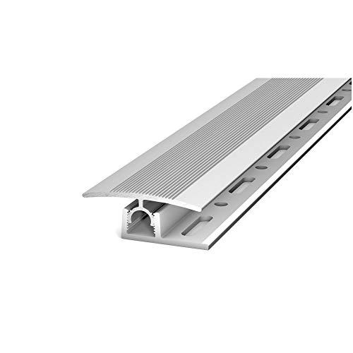 5 Stück - Übergangsprofil mit Basisprofil 90 cm silber