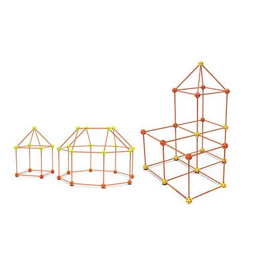 haohaiyo Builder - Tienda de perlas para montar en casa, juguete educativo para interior y exterior, para niños y niñas, castillos, túnel, tienda de juegos