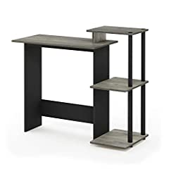 Simple stylish design yet Functional and suitable for any room that has limited space for a computer Material: manufactured from composite wood. Pvc tubes Fits in your space, fits on your budget. Features CPU storage shelf, elevated shelf for a compa...