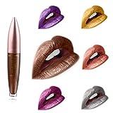 Edanta Matte Lipstick Waterproof Liquid Lipsticks Metallic Cream Lips Stick High Pigmented Lip Beauty Makeup for Women and Girls Pack of 1 (Brown 5)