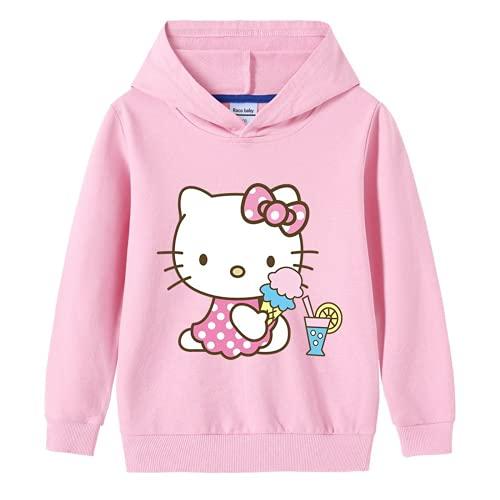 LIJUNQI Hello Kitty - Sudadera con capucha para mujer, diseño de Hello Kitty