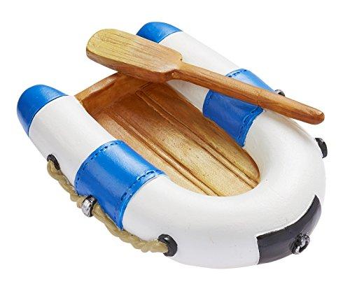 Schlauchboot blau/weiss ca. 7 x 5 cm
