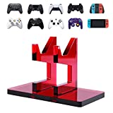 OAPRIRE Game Controller Stand Holder for XBOX ONE PS5 PS4 STEAM SWITCH PC - Universal Gaming Gamepad Accessories with Crystal Texture - Create Exclusive Game Fortresses (Clear Red)