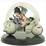 TQGG Modelo de Anime Figura de Anime Dragon Ball Figura de acción Infancia Son Goku Bulma Motociclet...